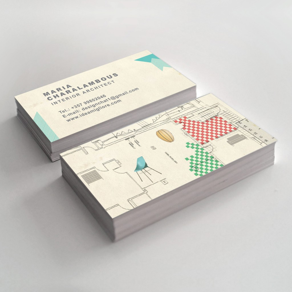 Interior design business card slim image for Interior designers business cards